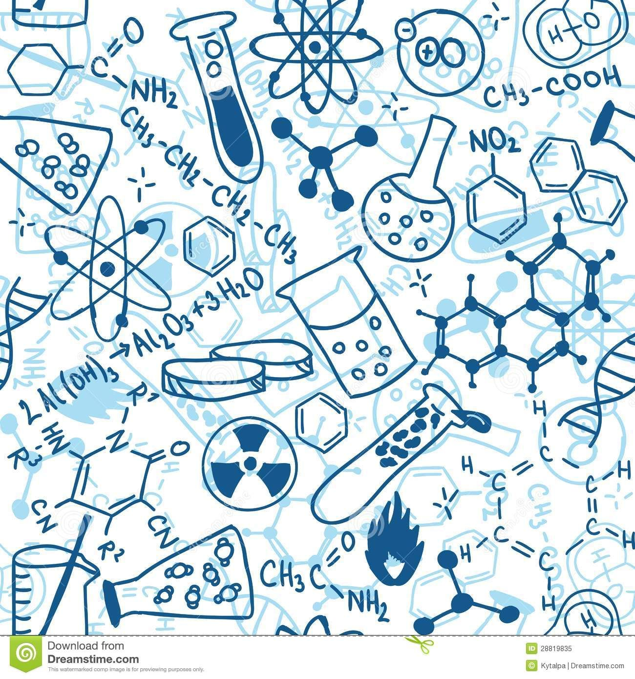 Science Seamless Pattern Royalty Free Stock Photo Image 28819835 Science Drawing Chemistry Posters Background Patterns