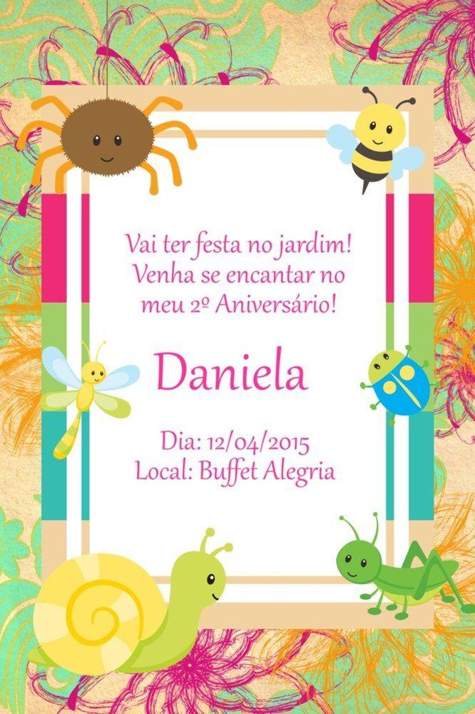 Convite digital personalizado Jardim Encantado 004