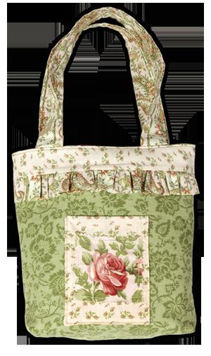 The Savannah Ruffled Spring Tote - Free PDF Sewing Project | como ...