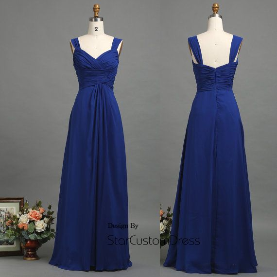 royal blue bridesmaid dress long chiffonParty by StarCustomDress