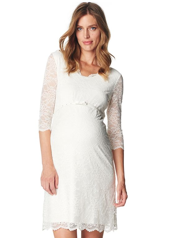 81f72050efc Queen Bee Off White Lace Maternity Evening Dress by Esprit ...