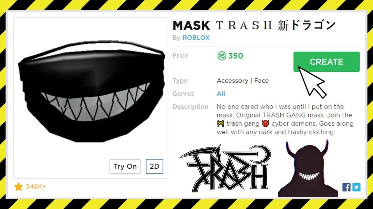 Roblox Trash Gang T Shirt Template How To Get A Trash Gang Mask On Roblox Roblox Trash Gang