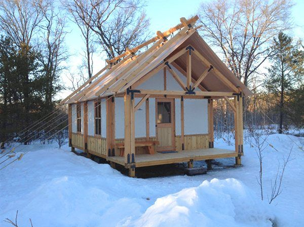 Tent-Cabin 50% Tent 50% Cabin - My Place - Cabin Life - & Canvas Wall Tent built on platform with hitching rails. u2026 | Pinteresu2026