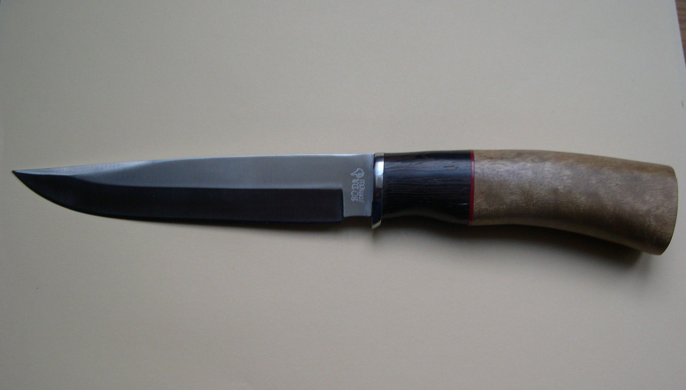 7ef2617280a Boda Stainless Japanese Hunting Knife - 440 Steel - Bambus & Wood Handle