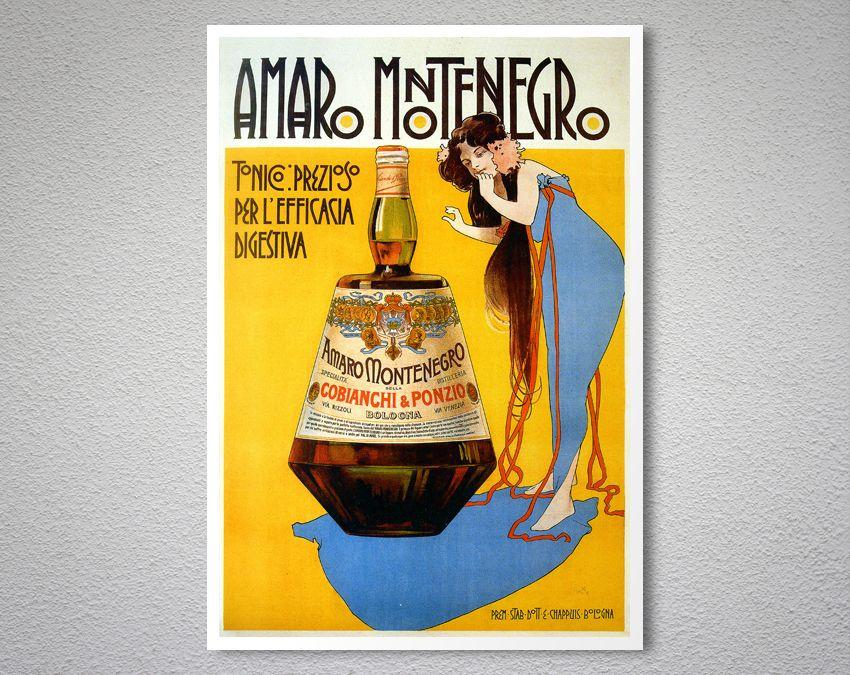 Amaro Montenegro Vintage Food Drink Poster Arty Posters Vintage Recipes Vintage Montenegro