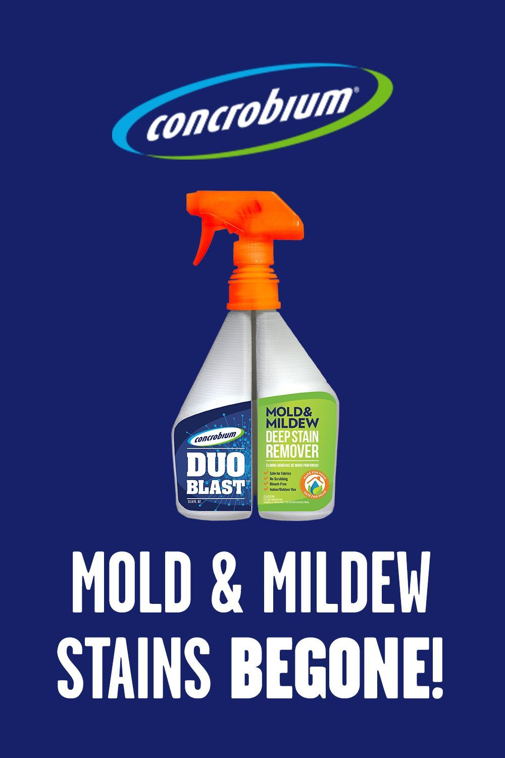 Eliminate Mold & Mildew Stains With Concrobium Duo Blast ...