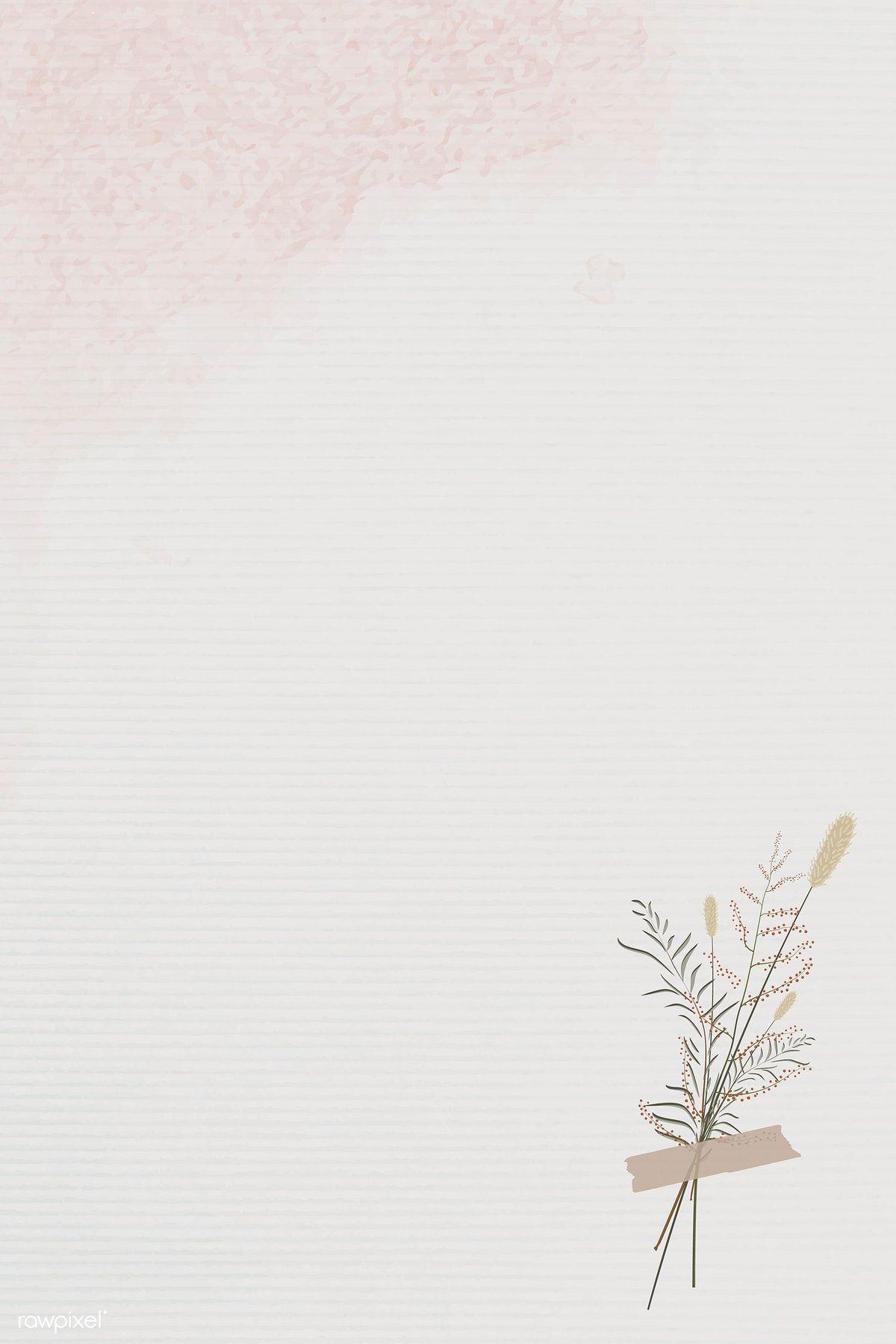 Download Premium Vector Of Vintage Leaves Design Background Vector 1228922 Flower Background Wallpaper Flower Backgrounds Paper Background Texture