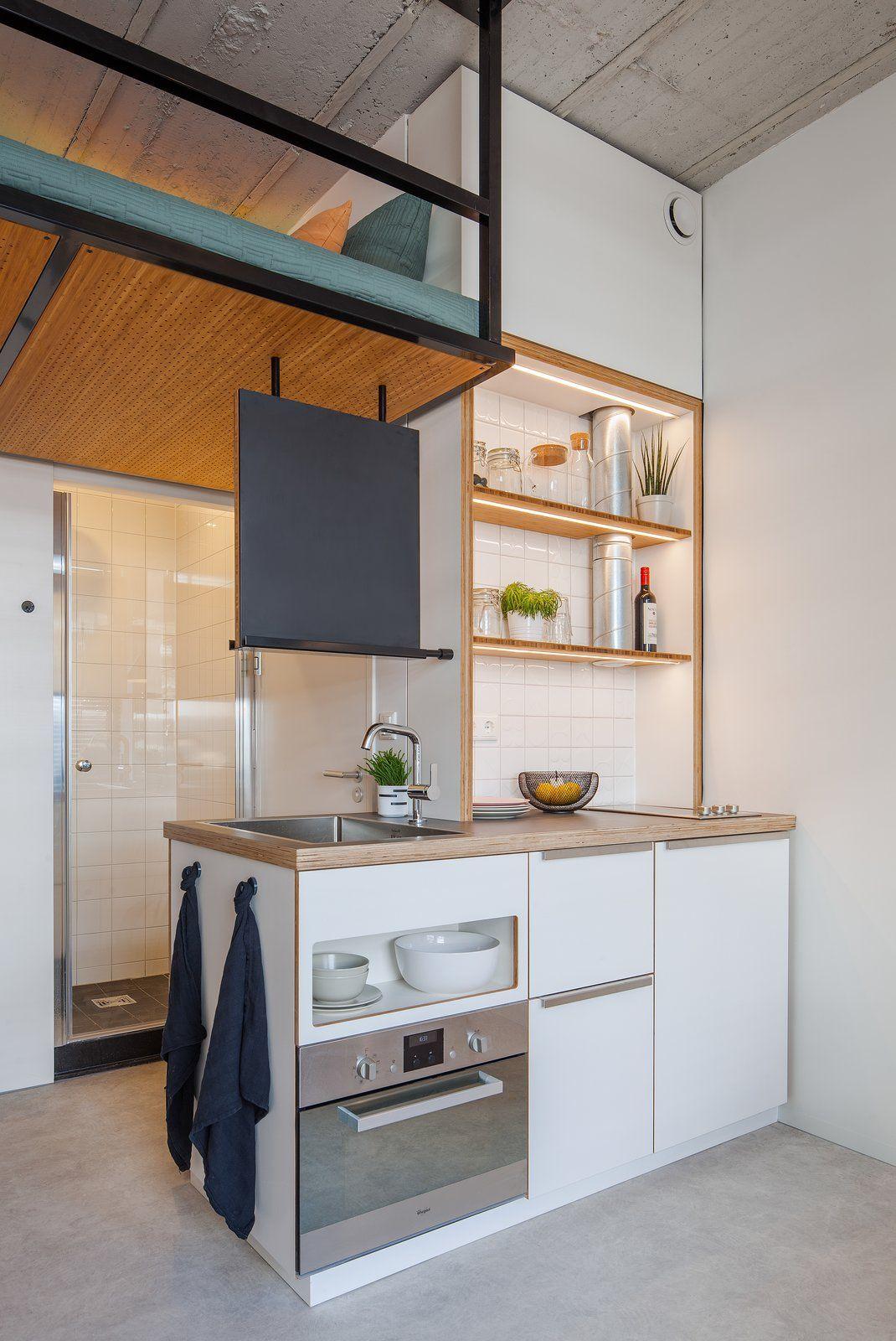 These Rotterdam Apartments Put The Average Student Dorm To Shame Tiny Kitchen Small Apartments Minimalist Kitchen Design
