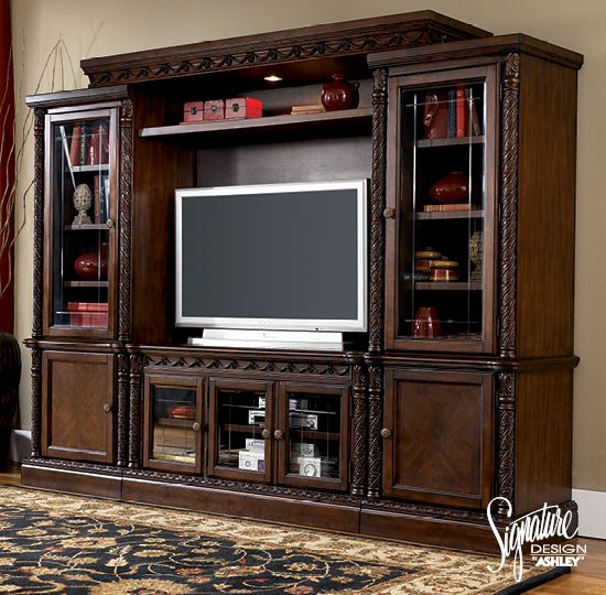 North Shore Entertainment Wall Ashley Furniture Entertainment