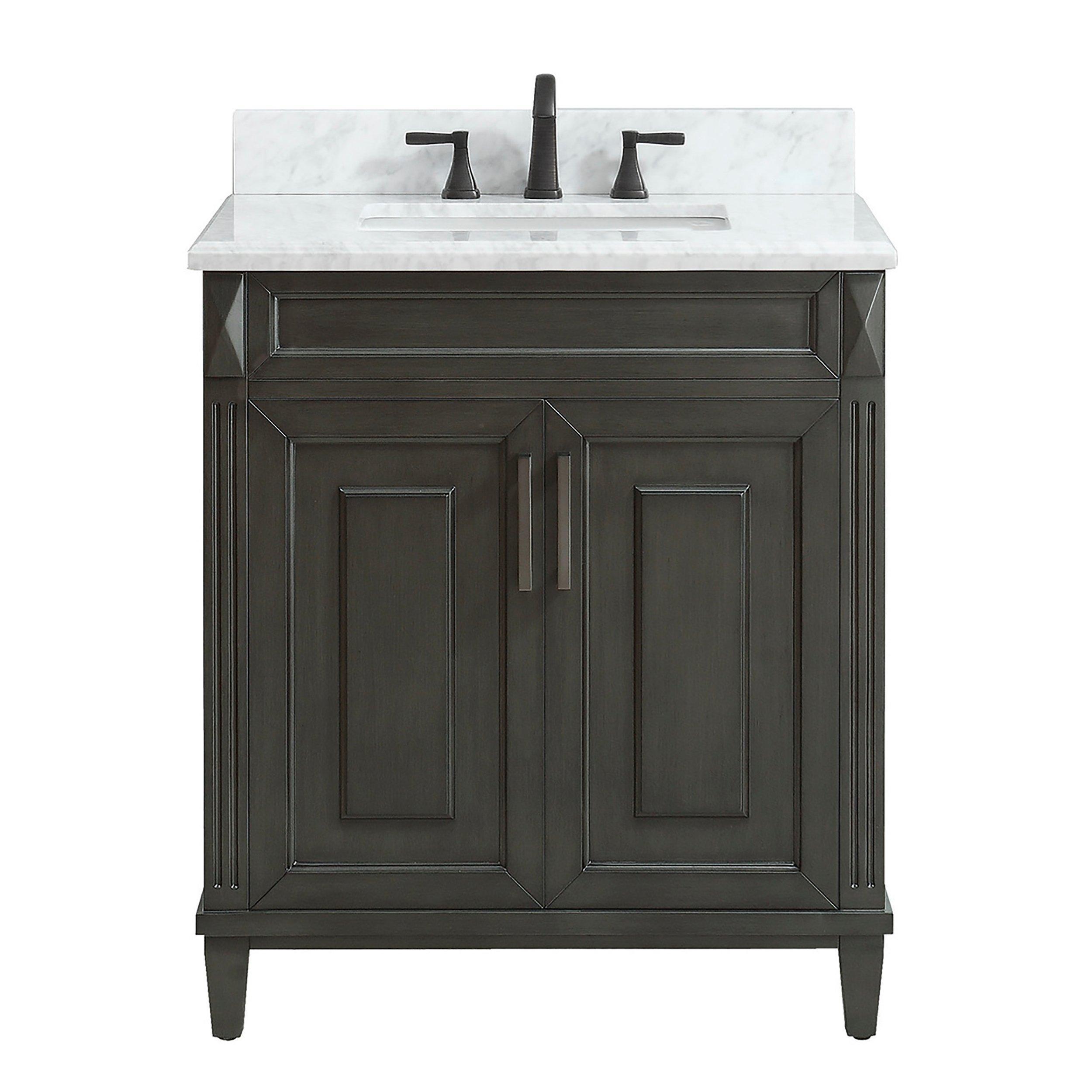 Sterling 31 In Vanity With Carrara Marble Top In 2020 Vanity Modern Bathrooms Interior Floor Decor