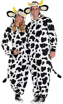 Adult Zipster Cow One-Piece Pajama Costume @ Party City  sc 1 st  Pinterest & Adult Zipster Cow One-Piece Pajama Costume @ Party City   Spooky ...