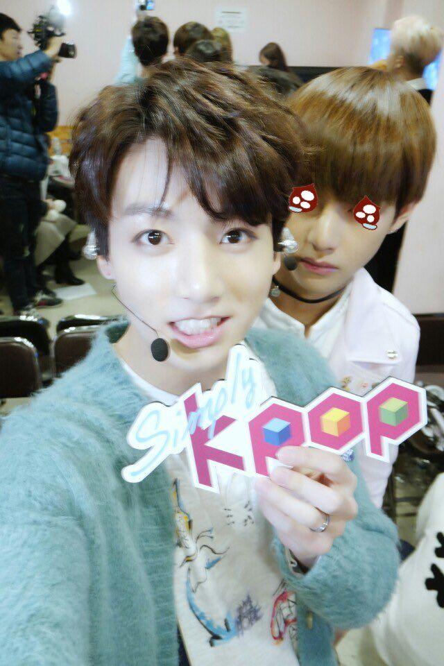 Jungkook & V ( Taehyung ) - BTS at Simply Kpop Twitter ...