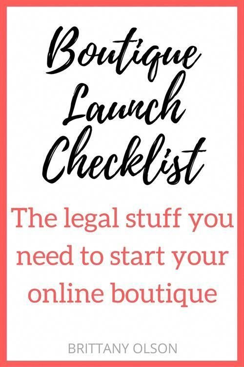 How to Start An Online Boutique - Boutique Launch Checklist for Obtaining Your Business Licenses, Seller Permit, Finding Wholesalers, and Choosing an Ecommerce Platform - The legal stuff you need for starting an online shop #soapmakingbusinessplan