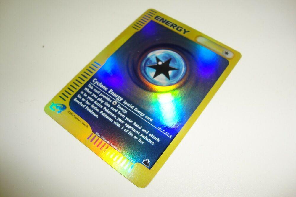 Pokemon Card E-reader Reverse Holo Skyridge Cyclone Energy