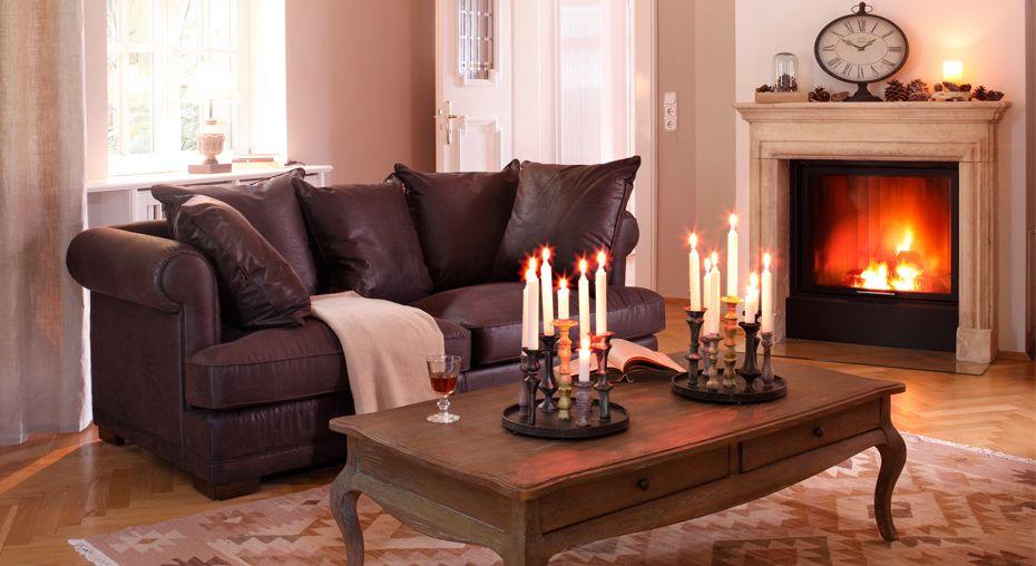 Sofa Rockford #Wohnzimmer #loberon Wohnen im Landhausstil - wohnzimmer landhausstil braun