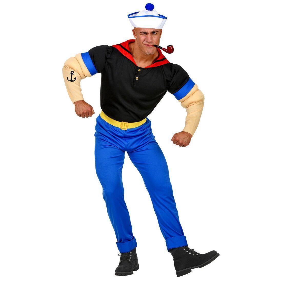 Matrosen Kostüm für Herren Seemann Matrosenkostüm Karneval Seefahrer