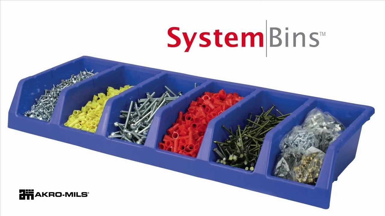 Akro-Mils System Bins™ are a single-piece, 6-compartment storage unit. #organize akro-mils.com