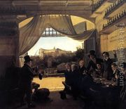 Crown Prince Ludwig in the Spanish Wine Tavern in Rome 1824  by Franz Ludwig Catel