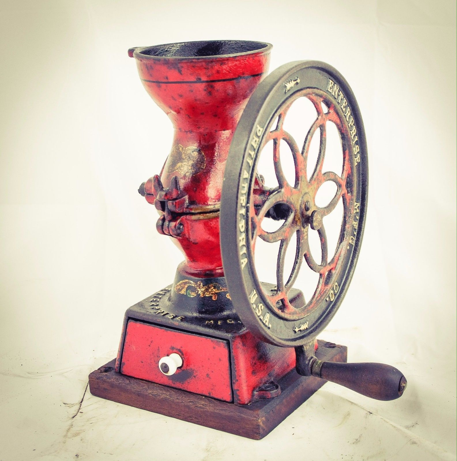 Antique philadelphia enterprise coffee grinder no2 cast