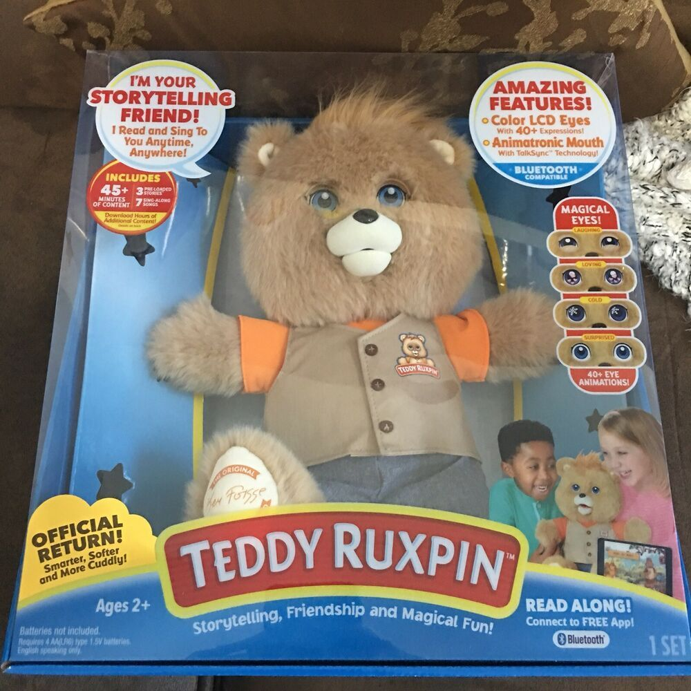 TEDDY RUXPIN 2017 ANIMATED Cuddly Storytelling Magical BEAR Toy BRAND NEW INHAND