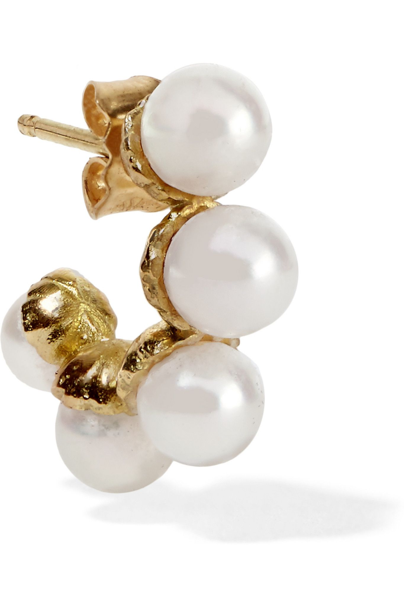 Delfina Delettrez 18kt gold Complex Gemetries diamond earring - Green h0MUB0qNYW