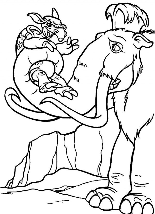 Ice Age Lifting Pangolin Ice Age Coloring Pages Pinterest