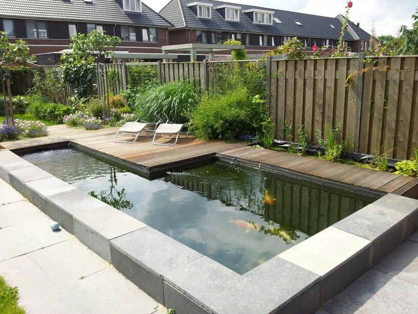 Vijver koi pond koivijver strak modern hobby project for Contemporary koi pond design