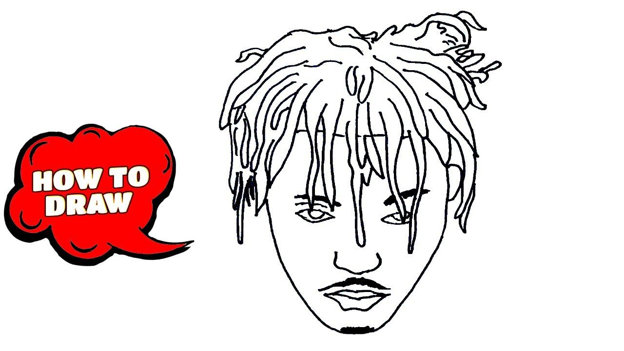 How To Draw Juice Wrld Juice Wrld Drawing Easy Sketch Tutorial Sketches Easy Easy Drawings Sketches Tutorial