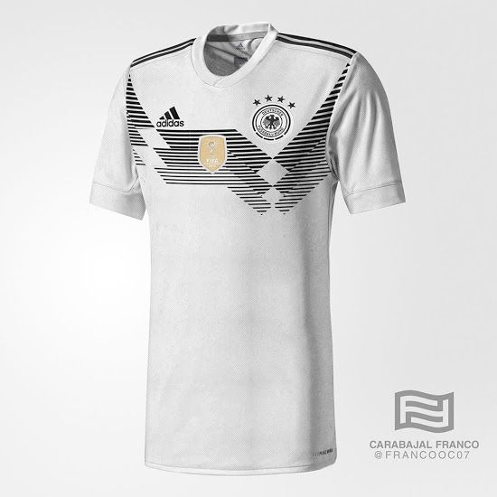 The Germany 2018 World Cup Kit Brings Back One Of The Country S Most Iconic Jersey Designs Of All Time Sports Jersey Design Jersey Design World Cup