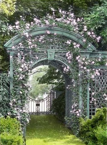 21 Cool Garden Archways Covered With Flowers Shelterness Garden Archway Garden Arches Garden Gates