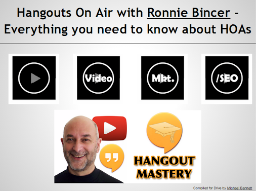 Hangouts On Air with +Ronnie Bincer Everything you need