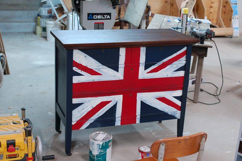 British Flag Furniture. Images About Union Jack Painted Dresser Pinterest  How And Burnham British Flag