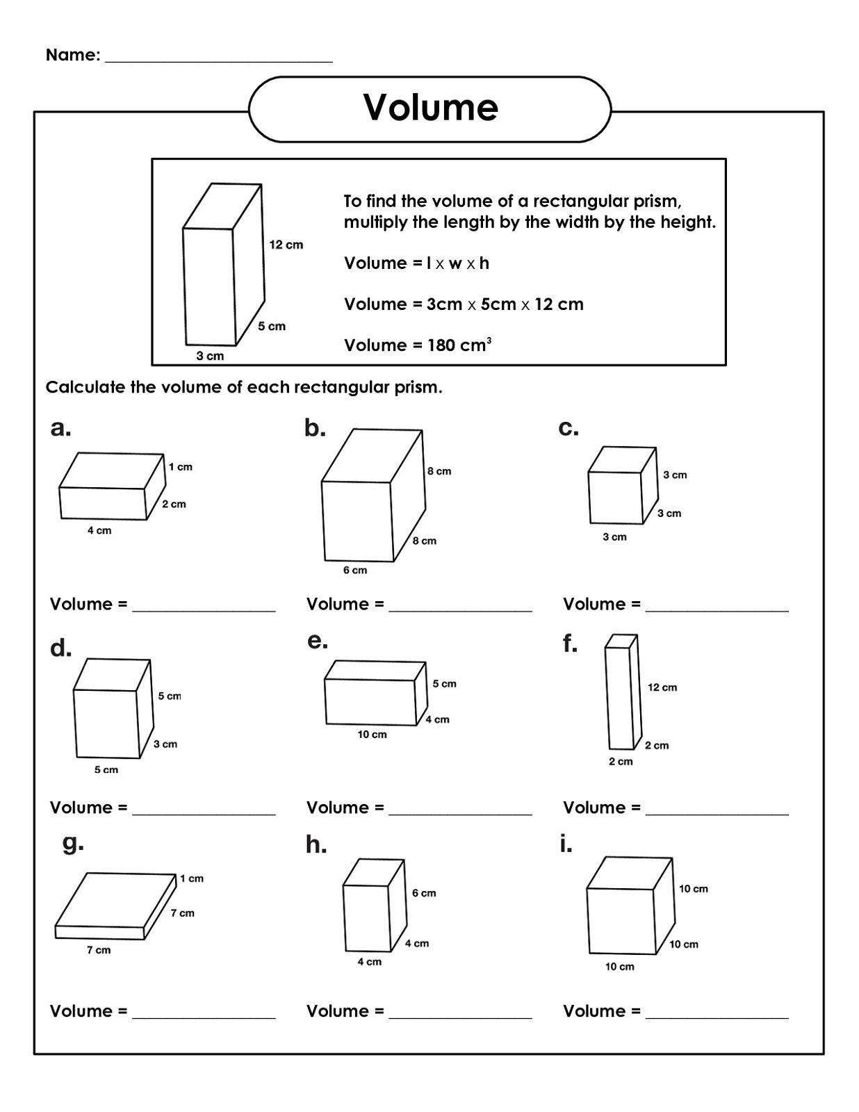 Rectangular Prism Volume 5th Grade Math Worksheets K5 Worksheets Volume Math Grade 5 Math Worksheets Fifth Grade Math