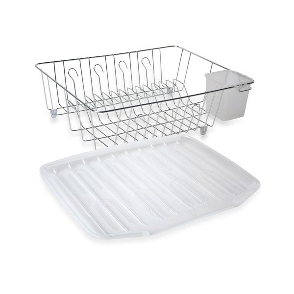Eco Chrome Large Dish Drainer Bed Bath Beyond 11 99 Dish