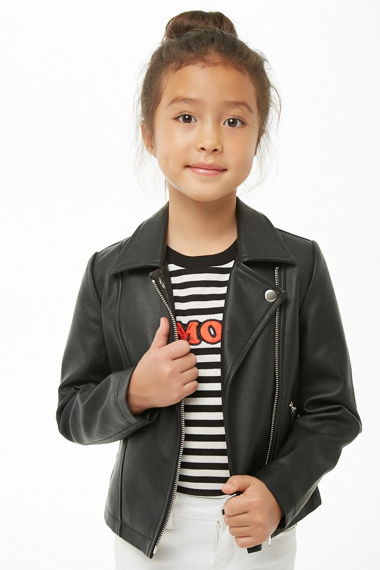 Girls Faux Leather Jacket Kids Leather Jacket Girl Kids Leather Jackets Leather Jacket [ 1125 x 750 Pixel ]