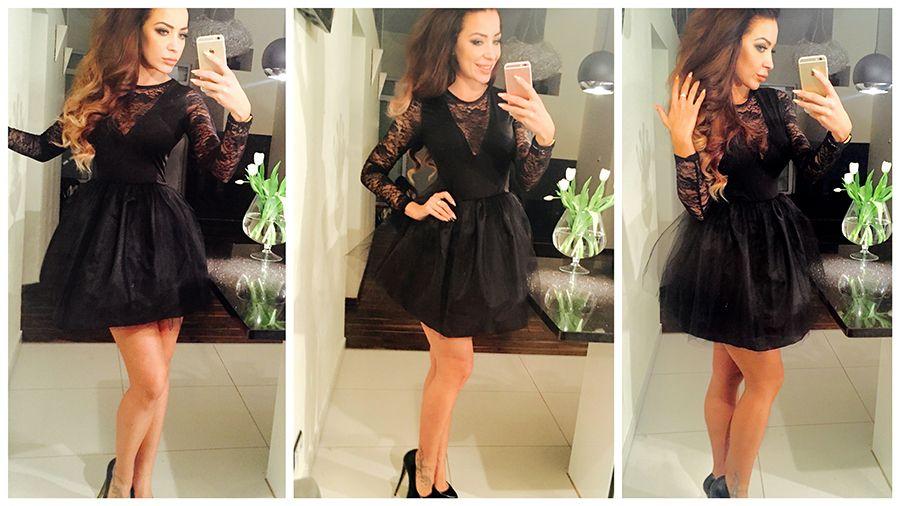 Rozkloszowana Sukienka Koronka Glam Tiul New M721 5920376051 Oficjalne Archiwum Allegro Dresses Fashion Shoulder Dress