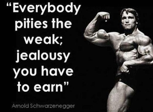 Arnold Schwarzenegger Quotes Simple Arnold Schwarzenegger  Everybody Pities The Weak Jealousy You Have . Design Decoration