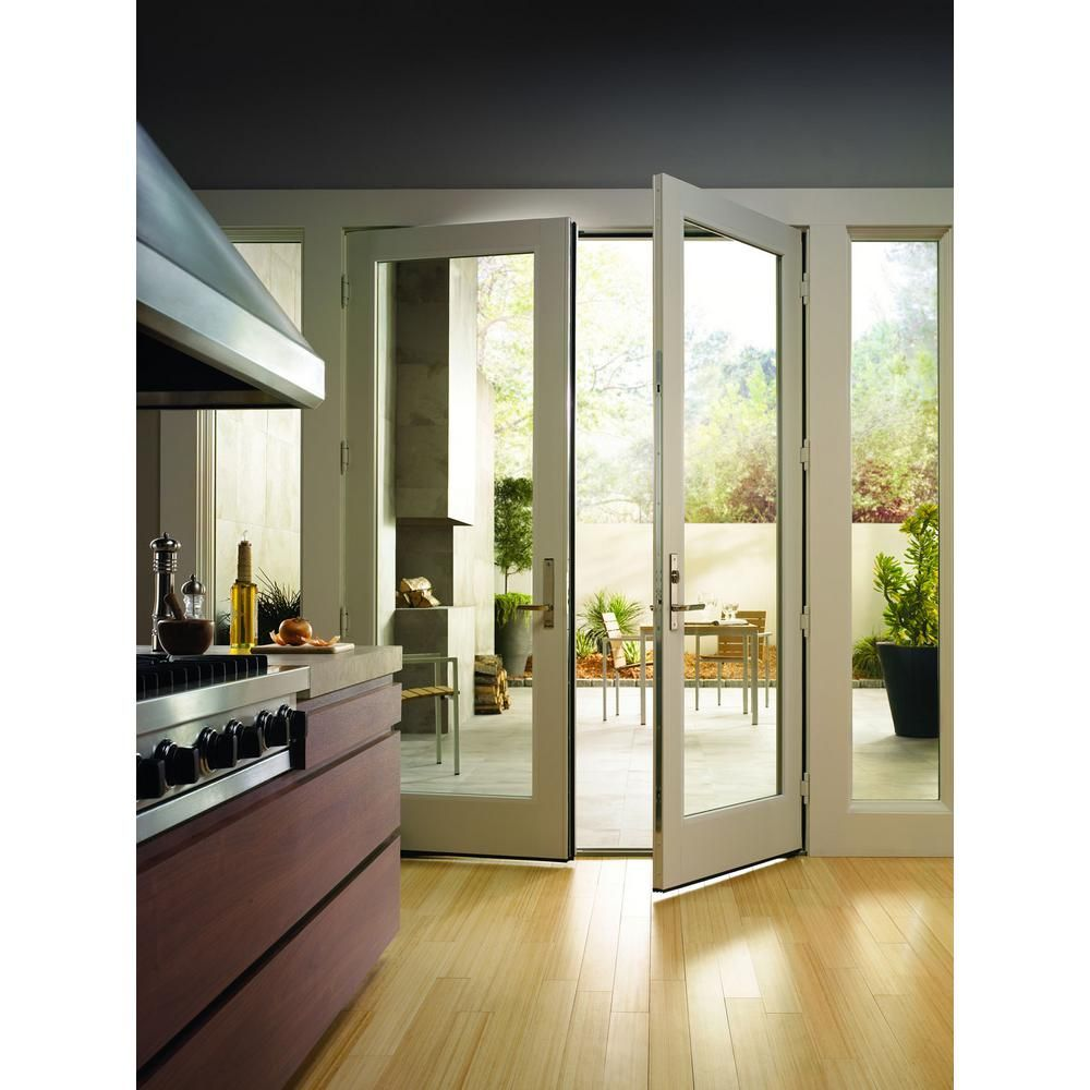 Andersen 72 In X 80 In 200 Series Fiberglass White Inswing Hinged Patio Door 9180302 The Home Depot In 2020 Hinged Patio Doors Glass Doors Patio French Doors Interior