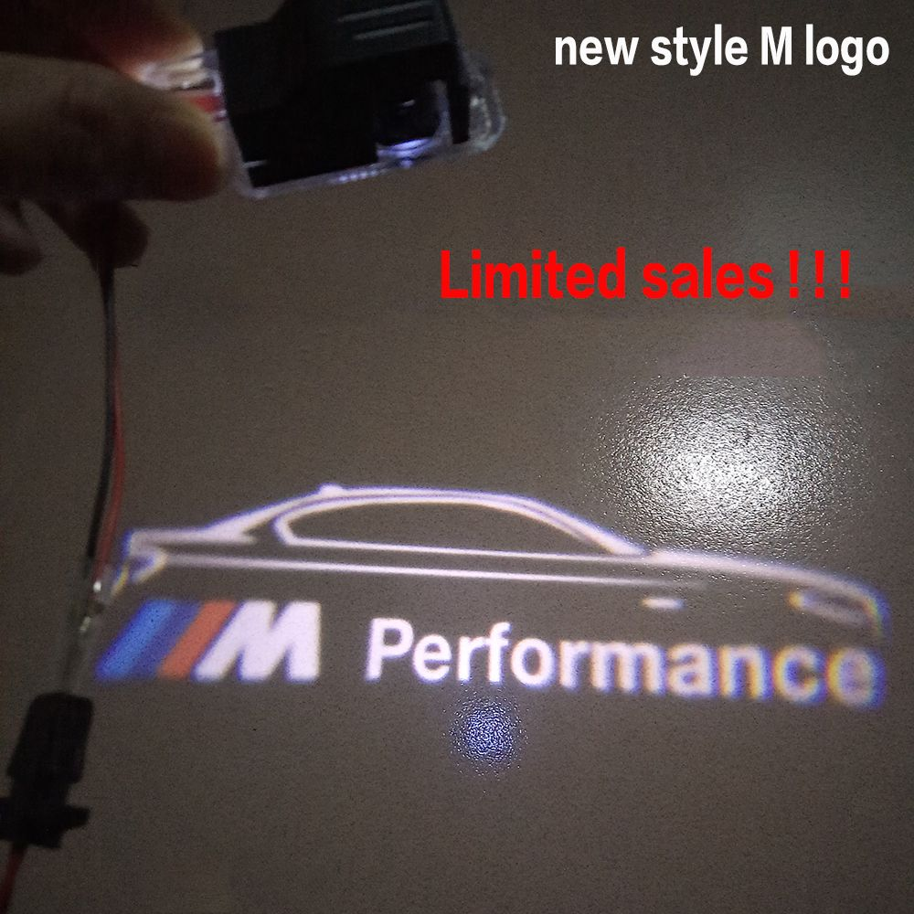 2ピースドア軽自動車影光用bmw Mパフォーマンスロゴ車のドア歓迎光led
