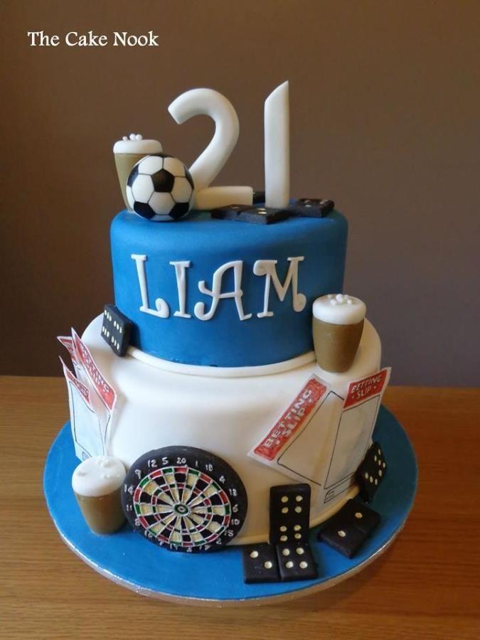 Swell 21St Birthday Cake By Zoe Robinson 21St Birthday Cakes Cool Funny Birthday Cards Online Alyptdamsfinfo