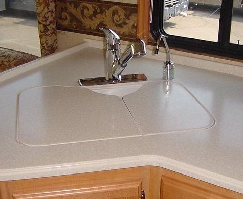 rv kitchen sink granite countertops cost covers of sinks and bathroom american stonecast products