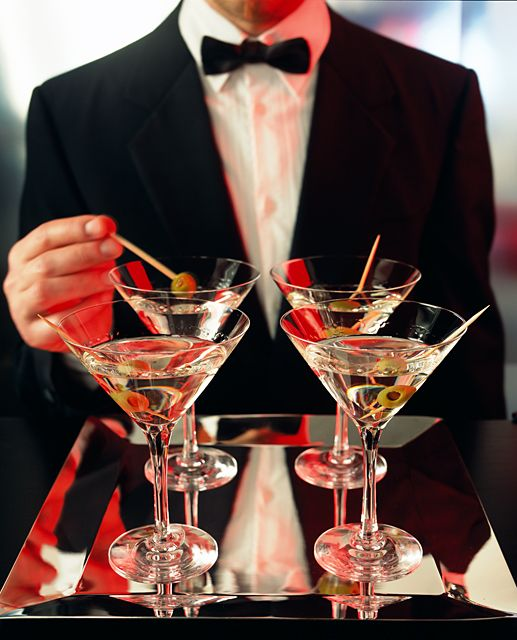 It's all fun and games until somebody spills their martini...