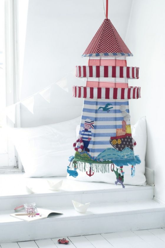 Childrens lampshades by taj wood scherer lamp shades woods ahoy lighthouse ambiente aloadofball Gallery