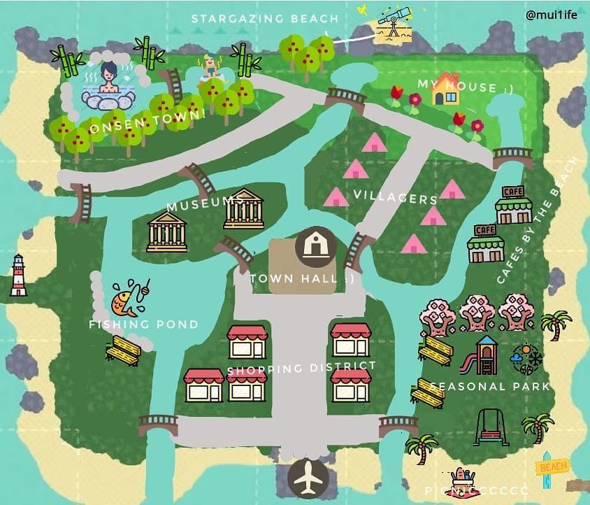 ムイムイ On Instagram Rough Planning Of My Island Map