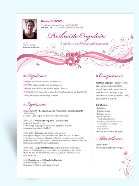 cv sales estheticienne  n u00b043018 exemple de cv sales