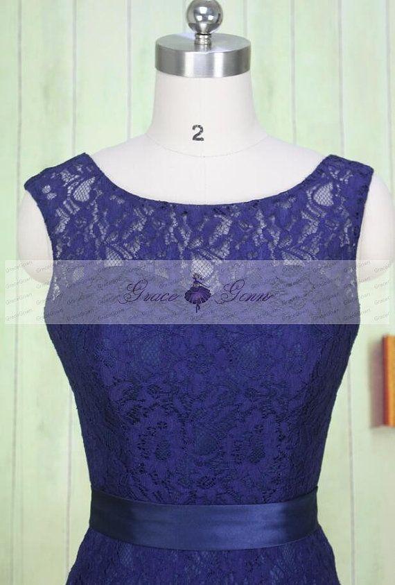 Bridesmaid Dress Lace,Navy Blue Bridesmaid Dress,Mermaid Evening ...