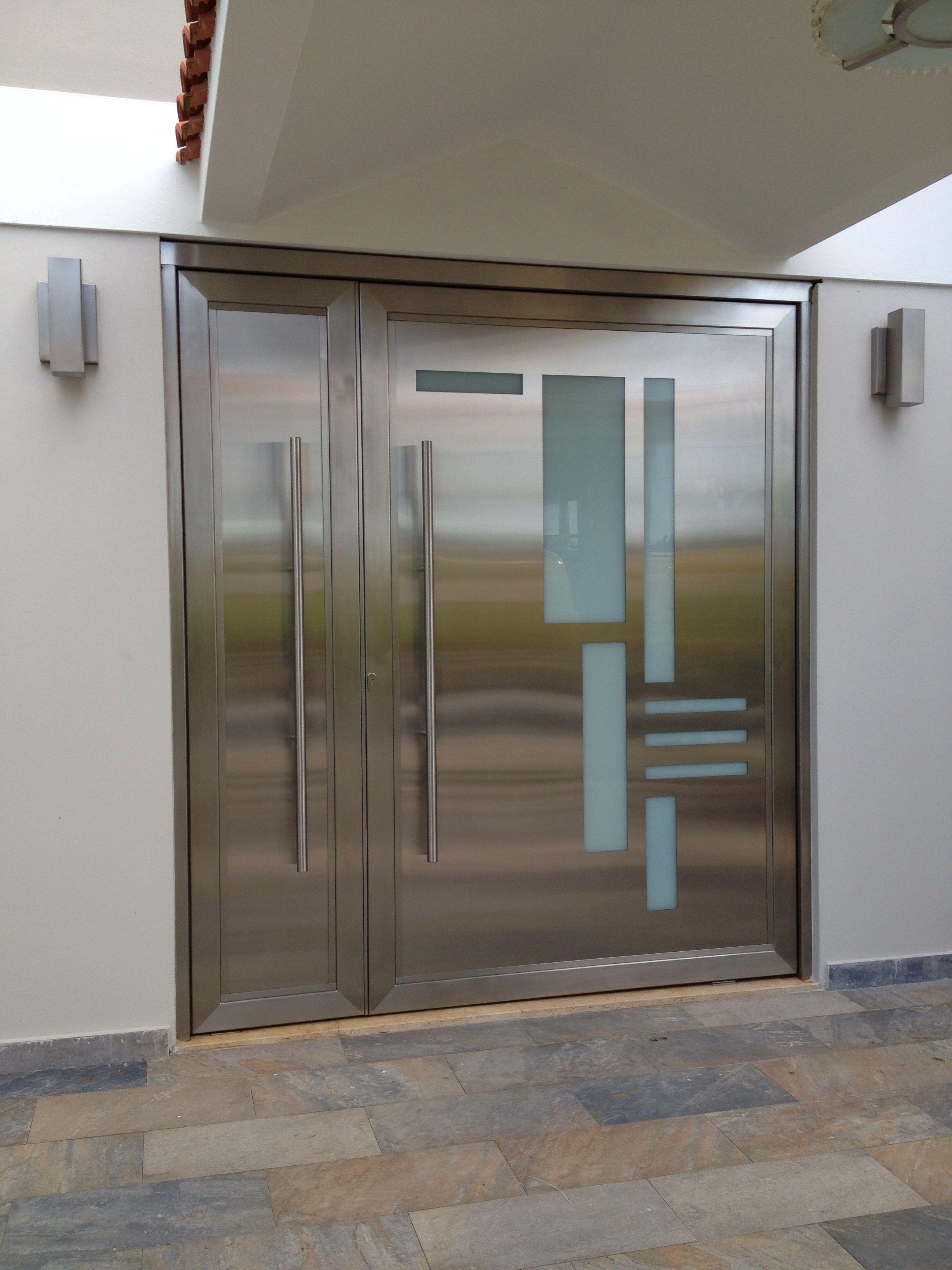 stainless steel pivot door   My Work 2   Pinterest   Pivot doors ... for Stainless Steel Gate Designs With Glass  75tgx