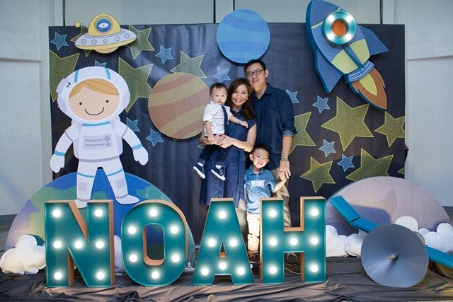 Noah S Outer Space Themed Party 1st Birthday Naddah S
