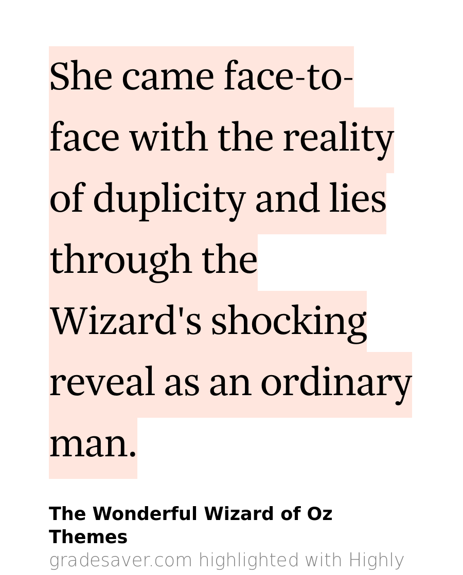 what is the theme of the wonderful wizard of oz