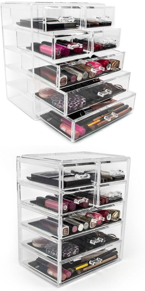 Makeup Bags And Cases: Acrylic Drawer Makeup Organizer Removable Drawers  Storage Countertop Jewelry New